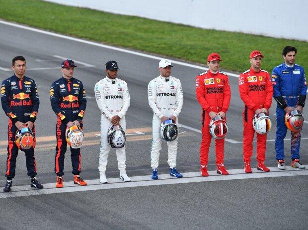 Esteban Ocon, Alexander Albon, Max Verstappen, Lewis Hamilton, Valtteri Bottas, Charles Leclerc, Sebastian Vettel, Carlos Sainz