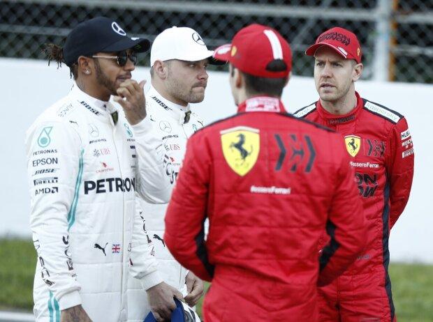 Lewis Hamilton, Valtteri Bottas, Sebastian Vettel, Charles Leclerc