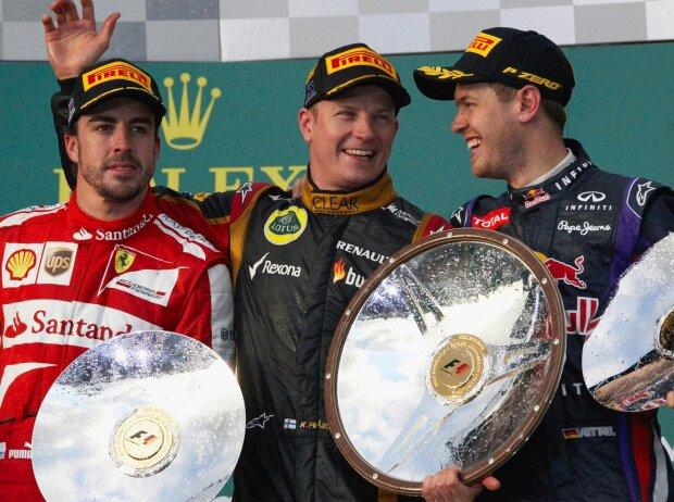 Kimi Räikkönen, Fernando Alonso, Sebastian Vettel