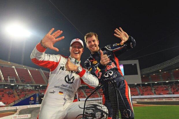 Michael Schumacher Sebastian Vettel Red Bull Red Bull F1 ~Michael Schumacher und Sebastian Vettel (Ferrari) ~