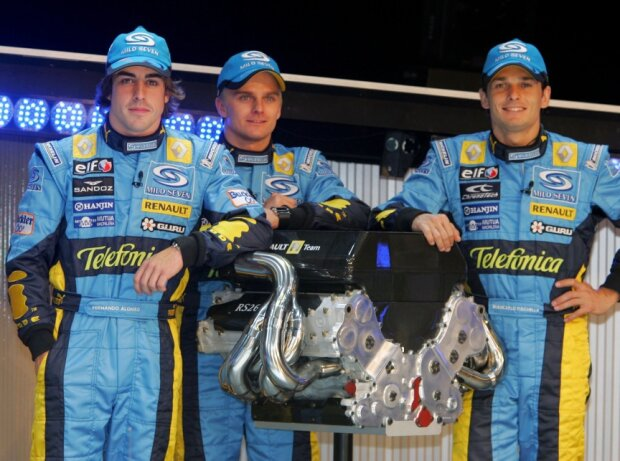 Fernando Alonso, Giancarlo Fisichella, Heikki Kovalainen