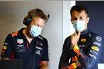 Renningenieur Mike Lugg und Alexander Albon (Red Bull)