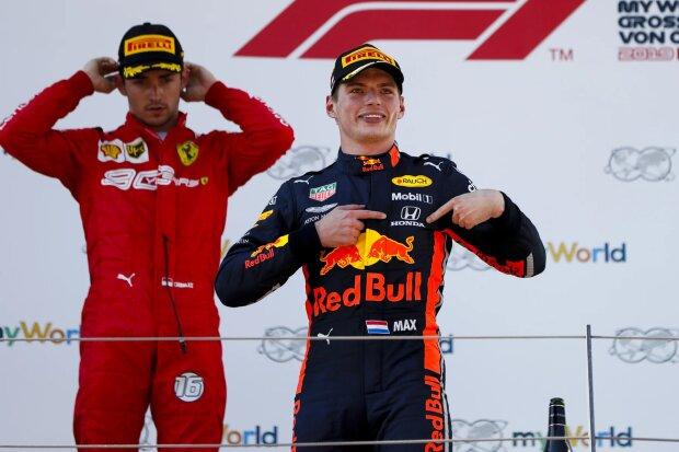 Max Verstappen Charles Leclerc Ferrari Ferrari F1Red Bull Red Bull F1 ~Max Verstappen (Red Bull) und Charles Leclerc (Ferrari) ~
