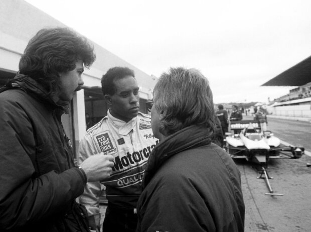 Willy Ribbs mit Gordon Murray und Herbie Blash bei Brabham