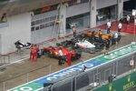 Charles Leclerc (Ferrari), Kevin Magnussen (Haas) und Carlos Sainz (McLaren)