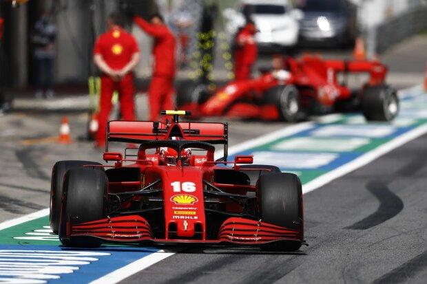 Charles Leclerc Sebastian Vettel Ferrari Ferrari F1 ~Charles Leclerc (Ferrari) und Sebastian Vettel (Ferrari) ~