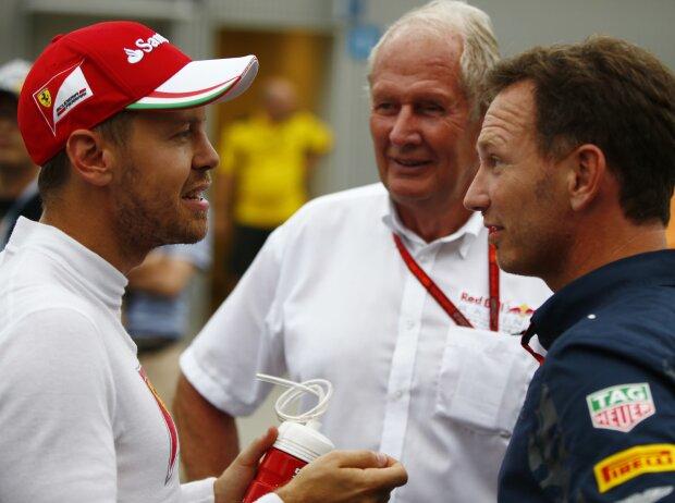 Sebastian Vettel, Christian Horner