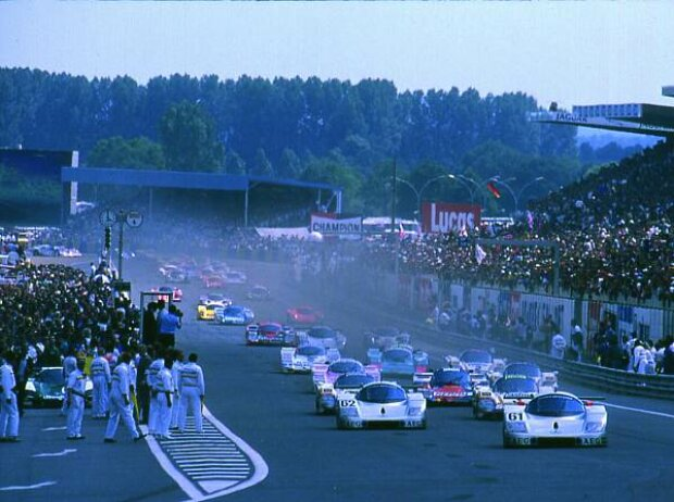 Sauber-Mercedes auf dem Weg zum Sieg in Le Mans 1989