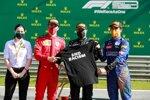 Charles Leclerc (Ferrari), Valtteri Bottas (Mercedes) und Lando Norris (McLaren)