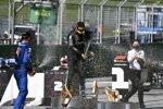 Lando Norris (McLaren), Valtteri Bottas (Mercedes) und Charles Leclerc (Ferrari)