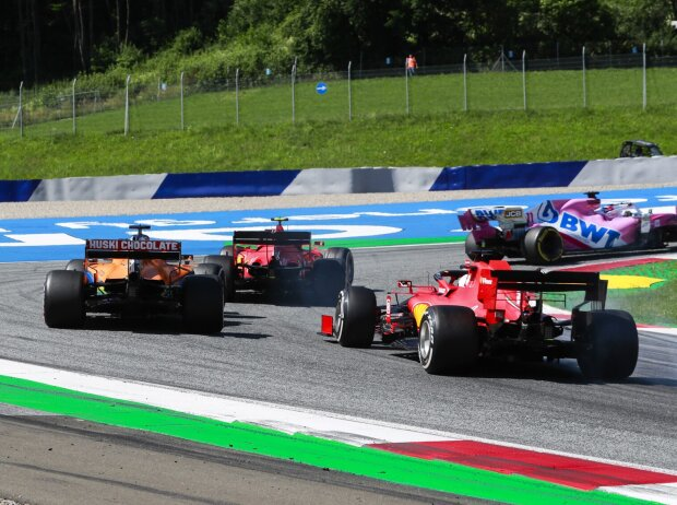 Charles Leclerc, Carlos Sainz, Sebastian Vettel