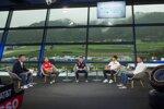 Andreas Gröbl (ServusTV), Sebastian Vettel (Ferrari), Max Verstappen (Red Bull), Pierre Gasly (AlphaTauri), Christian Horner (Red Bull)