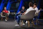 Sebastian Vettel (Ferrari), Max Verstappen (Red Bull),  Pierre Gasly (AlphaTauri) und  Christian Horner (Red Bull)