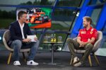 Andreas Gröbl (ServusTV) und Sebastian Vettel (Ferrari)