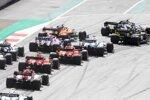 Charles Leclerc (Ferrari), Sebastian Vettel (Ferrari), George Russell (Williams), Lance Stroll (Racing Point) und Lando Norris (McLaren)
