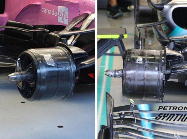 Bremsen von Racing Point und Mercedes