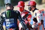 Maverick Vinales (Yamaha), Andrea Dovizioso (Ducati) und Marc Marquez (Honda)