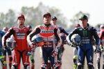 Andrea Dovizioso, Marc Marquez und Maverick Vinales
