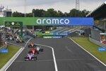 Sergio Perez (Racing Point), Sebastian Vettel (Ferrari), George Russell (Williams), Lando Norris (McLaren) und Carlos Sainz (McLaren)