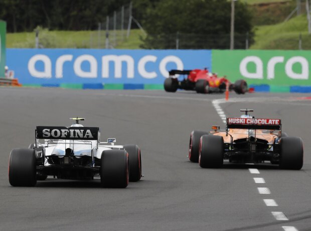 Sebastian Vettel, Carlos Sainz, Nicholas Latifi