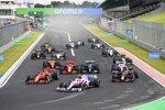 Lance Stroll (Racing Point), Max Verstappen (Red Bull), Sebastian Vettel (Ferrari), Valtteri Bottas (Mercedes) und Charles Leclerc (Ferrari)