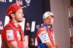Andrea Dovizioso (Ducati) und Jack Miller (Pramac)