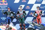 Fabio Quartararo (Petronas), Maverick Vinales (Yamaha) und Francesco Bagnaia (Pramac)