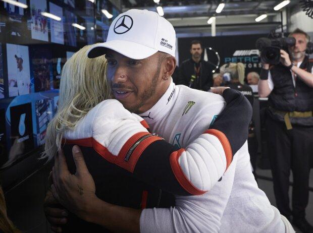 Christina Aguilera und Lewis Hamilton