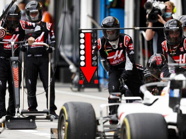 Romain Grosjean, Haas-Mechaniker