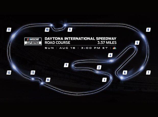 Daytona-Rundkurs mit NASCAR-Schikane