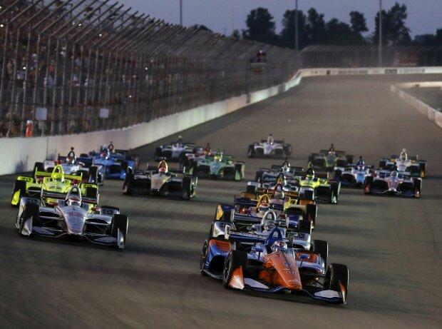 Start zum IndyCar-Rennen im Gateway Motorsports Park in St. Louis 2018