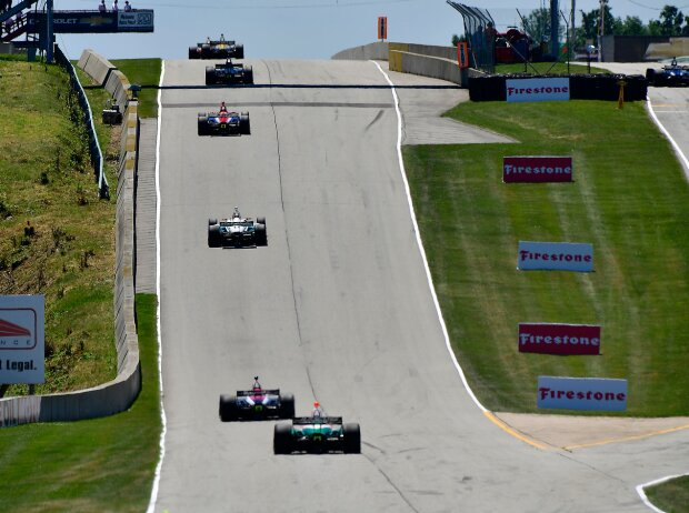 IndyCar-Action in Elkhart Lake