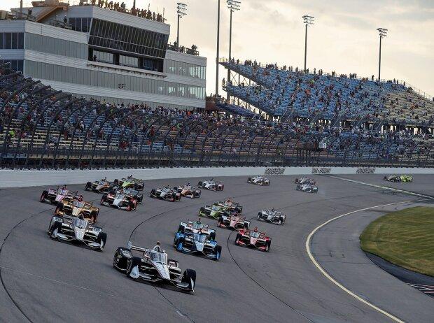 Start zu Rennen 2 auf dem Iowa Speedway 2020