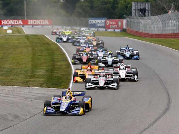 Start zum Honda Indy 200 auf dem Mid-Ohio Spots Car Course 2018