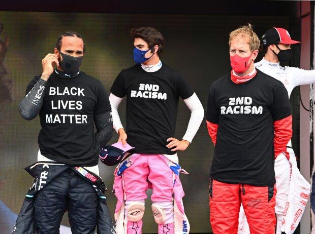 Lewis Hamilton, Lance Stroll, Sebastian Vettel, Max Verstappen