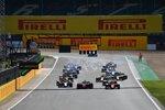 Mick Schumacher (Prema), Felipe Drugovich (MP Motorsport), Nikita Masepin (Hitech) und Jack Aitken (Campos)