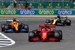 Charles Leclerc (Ferrari), Carlos Sainz (McLaren) und Daniel Ricciardo (Renault)