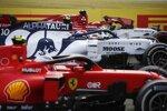 Sebastian Vettel (Ferrari), Pierre Gasly (AlphaTauri) und Charles Leclerc (Ferrari)