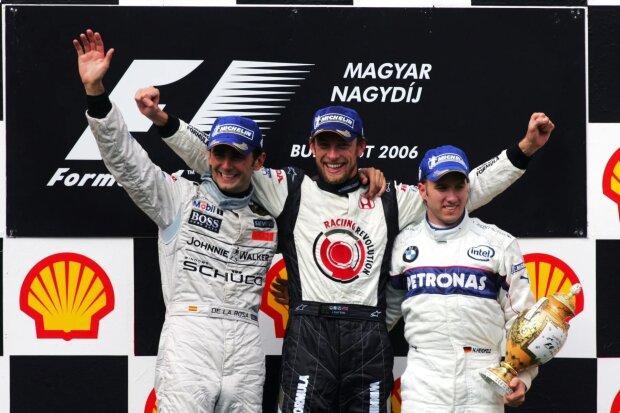 Pedro de la Rosa Jenson Button Nick Heidfeld McLaren McLaren F1Alfa Romeo Alfa Romeo F1 ~Pedro de la Rosa, Jenson Button und Nick Heidfeld ~
