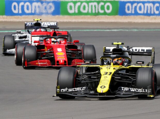 Esteban Ocon, Sebastian Vettel, Pierre Gasly