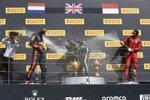 Lewis Hamilton (Mercedes), Max Verstappen (Red Bull) und Charles Leclerc (Ferrari)