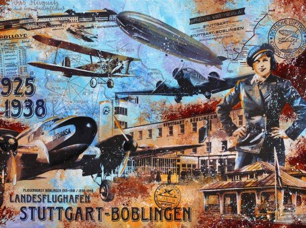 Ausstellungsplakat Bernd Luz Motorworld Region Stuttgart