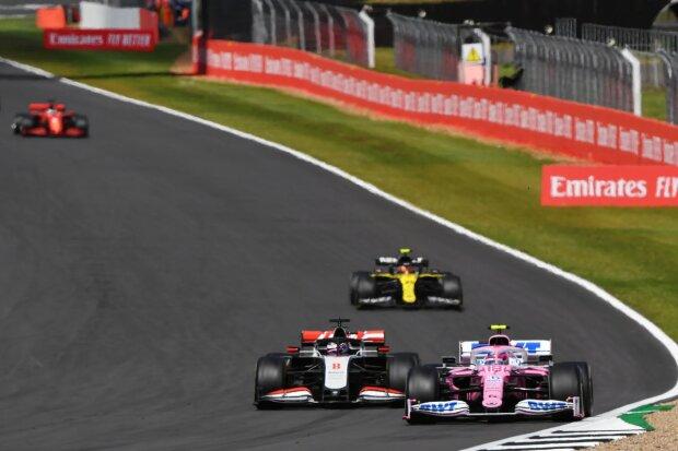 Lance Stroll Romain Grosjean Racing Point Racing Point F1Haas Haas F1 ~Lance Stroll (Racing Point) und Romain Grosjean (Haas) ~