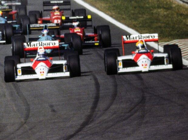 Alain Prost und Ayrton Senna, Portugal 1988