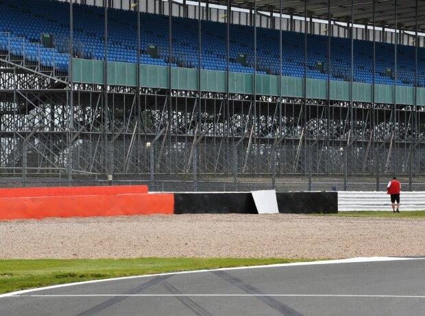 Unfallstelle von Daniil Kwjat 2020 in Silverstone