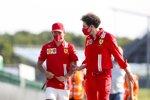 Charles Leclerc (Ferrari) und Mattia Binotto