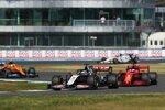 Romain Grosjean (Haas), Sebastian Vettel (Ferrari) und Lando Norris (McLaren)