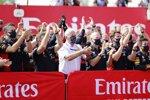 Christian Horner, Helmut Marko, Adrian Newey und Max Verstappen (Red Bull)