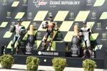 Franco Morbidelli (Petronas), Brad Binder (KTM) und Johann Zarco (Avintia)