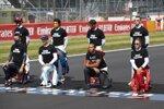 Antonio Giovinazzi (Alfa Romeo), Carlos Sainz (McLaren), Charles Leclerc (Ferrari), Daniil Kwjat (AlphaTauri), Alexander Albon (Red Bull), Nicholas Latifi (Williams), Lewis Hamilton (Mercedes) und Sebastian Vettel (Ferrari)